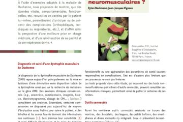 Les objets connectés et les pathologies neuromusculaires