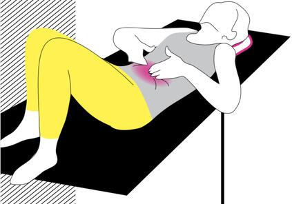 Exercice osteopathie mal au ventre Troubles digestifs