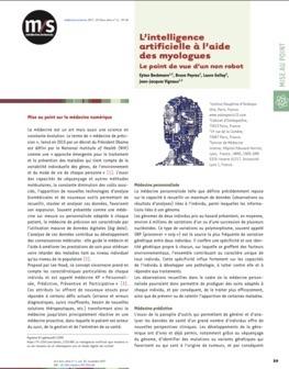 L'intelligence artificielle à l'aide des myologues