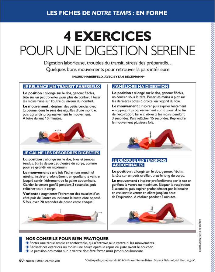 Exercices Notre temps