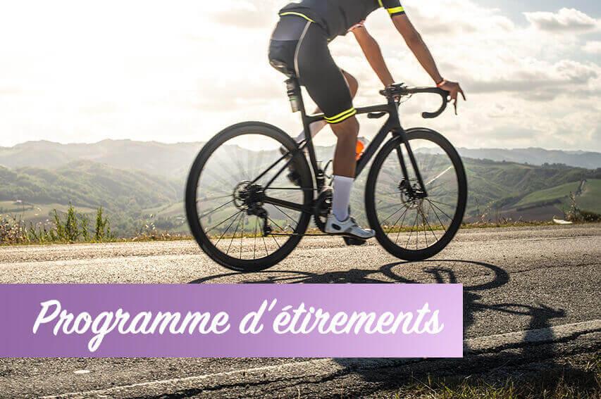 Programme d'étirement cyclisme