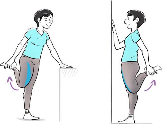 On étire ses quadriceps