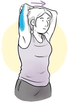 Etirement triceps