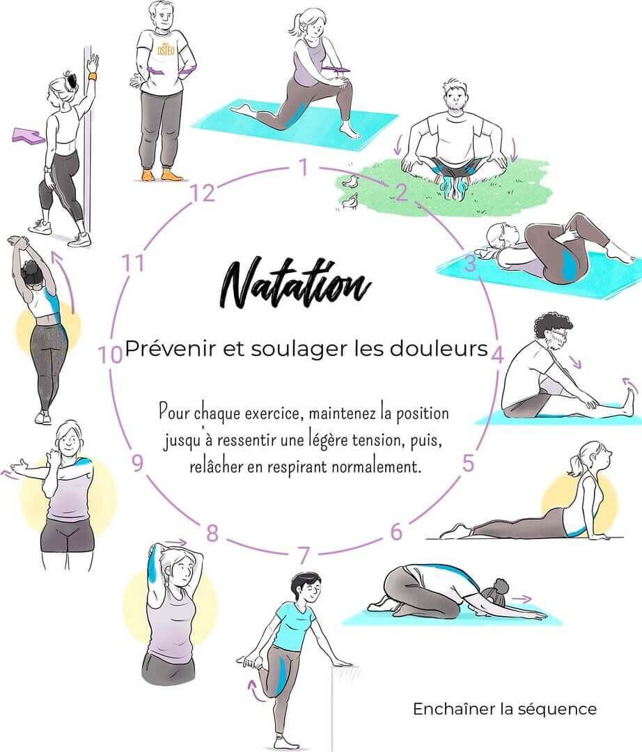Programme étirements natation